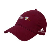 Adidas Maroon Slouch Unstructured Low Profile Hat-University Logo 1876 Horizontal