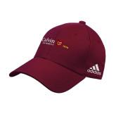 Adidas Maroon Structured Adjustable Hat-University Logo 1876 Horizontal