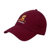 Maroon Twill Unstructured Low Profile Hat-Knights with University