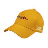 Adidas Gold Structured Adjustable Hat-University Logo 1876 Horizontal