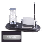 Distinguished Card Holder Set-Calvin Wordmark Engraved