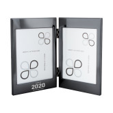 Black Nickel Double Photo Frame-Class of 2020 Knight Engraved