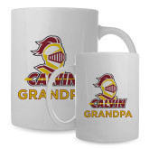 Full Color White Mug 15oz-Grandpa Knight Calvin