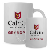 Full Color White Mug 15oz-Grandpa University Logo Vertical