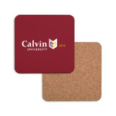 Hardboard Coaster w/Cork Backing-University Logo 1876 Horizontal