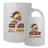 Alumni Full Color White Mug 15oz-Alumni Knight Calvin
