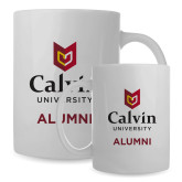 Alumni Full Color White Mug 15oz-Alumni University Logo Vertical
