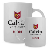 Mom Full Color White Mug 15oz-Mom University Logo Vertical