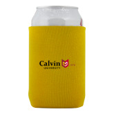 Neoprene Gold Can Holder-University Logo 1876 Horizontal
