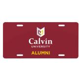 License Plate-Alumni University Logo Vertical