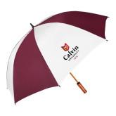 64 Inch Maroon/White Umbrella-University Logo 1876 Vertical