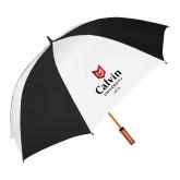 64 Inch Black/Whit Umbrella-University Logo 1876 Vertical