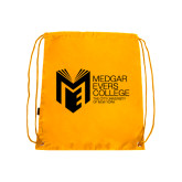 College Gold Drawstring Backpack-Official Logo