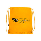 College Gold Drawstring Backpack-Medgar Evers Cougars
