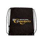College Black Drawstring Backpack-Medgar Evers Cougars