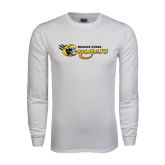 White Long Sleeve T Shirt-Medgar Evers Cougars