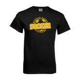 Black T Shirt-Soccer Design