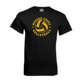 Black T Shirt-Volleyball Design