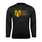 College Performance Black Longsleeve Shirt-Official Logo