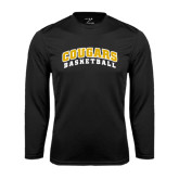 College Performance Black Longsleeve Shirt-Basketball