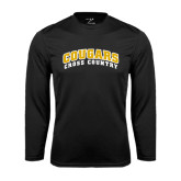 College Performance Black Longsleeve Shirt-Cross Country