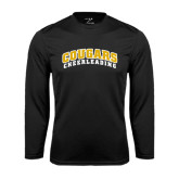 College Performance Black Longsleeve Shirt-Cheerleading