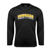 College Performance Black Longsleeve Shirt-Track and Field