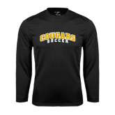 College Performance Black Longsleeve Shirt-Soccer