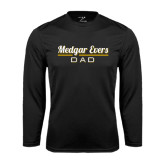 College Performance Black Longsleeve Shirt-Dad