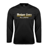 College Performance Black Longsleeve Shirt-Alumni