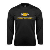 College Performance Black Longsleeve Shirt-Cross Country Design