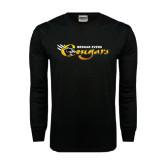 Black Long Sleeve TShirt-Medgar Evers Cougars