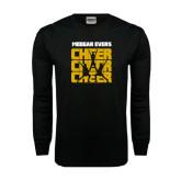Black Long Sleeve TShirt-Cheer Design