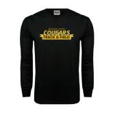 Black Long Sleeve TShirt-Track and Field Design