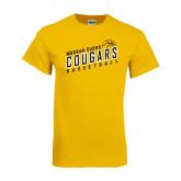 Gold T Shirt-Basketball Design