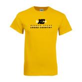 Gold T Shirt-Cross Country Design
