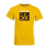 Gold T Shirt-Cheer Design