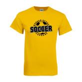 Gold T Shirt-Soccer Design