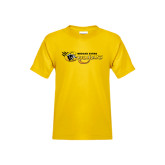 Youth Gold T Shirt-Medgar Evers Cougars