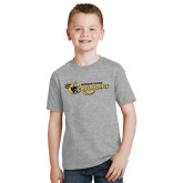 Youth Grey T-Shirt-Medgar Evers Cougars