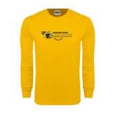 Gold Long Sleeve T Shirt-Medgar Evers Cougars