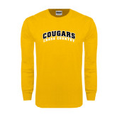 Gold Long Sleeve T Shirt-Cross Country