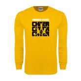 Gold Long Sleeve T Shirt-Cheer Design