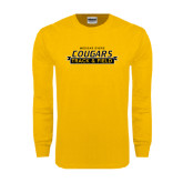 Gold Long Sleeve T Shirt-Track and Field Design