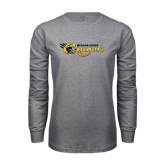 Grey Long Sleeve T Shirt-Medgar Evers Cougars