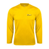 College Performance Gold Longsleeve Shirt-Medgar Evers Cougars