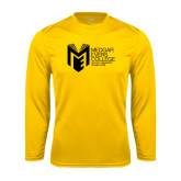 College Performance Gold Longsleeve Shirt-Official Logo