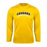 College Performance Gold Longsleeve Shirt-Basketball