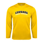 College Performance Gold Longsleeve Shirt-Cross Country