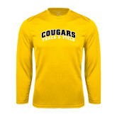 College Performance Gold Longsleeve Shirt-Track and Field